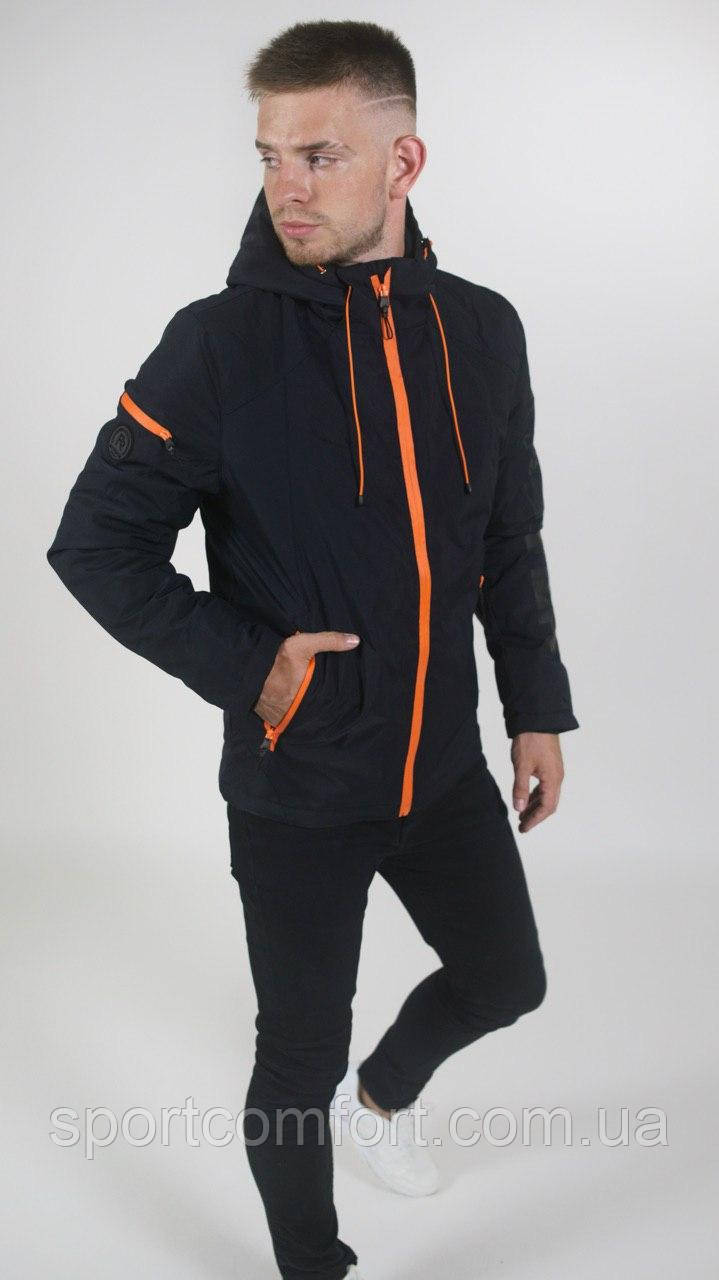 Мужская куртка Freever голубая, черная, темно-синяя
