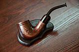 Гравировка на память другу - трубка с фильтром для курения KAF232 Bent из дерева груши, фото 4
