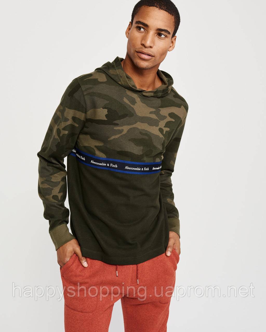 Мужская камуфляжная кофта с капюшоном Abercrombie & Fitch (Размеры - M, L)