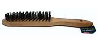 Щітка ручна NovoTools, 4х16, дерев'яна ручка