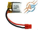 Аккумулятор литий-полимерный 100mAh, 3.7v, 751517, для радиоуправляемых игрушек (квадрокоптеров, дронов)