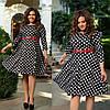 Женское трикотажное приталенное платье под пояс 48-50, 52-54, 56-58, фото 5