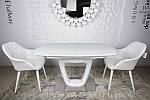 Стол Ottawa (Оттава), белый керамика (Бесплатная доставка), Nicolas, фото 7