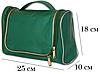 РАСПРОДАЖА Мужской вместительный органайзер для косметики Premium (зеленый), фото 2