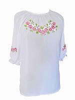 Блуза шифоновая Сиреневая радость (розовая) (Женские и мужские вышиванки)