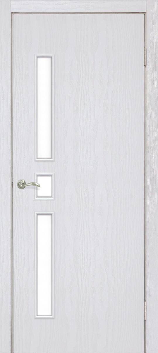 Дверь межкомнатная Омис Комфорт ПО ясень перламутр