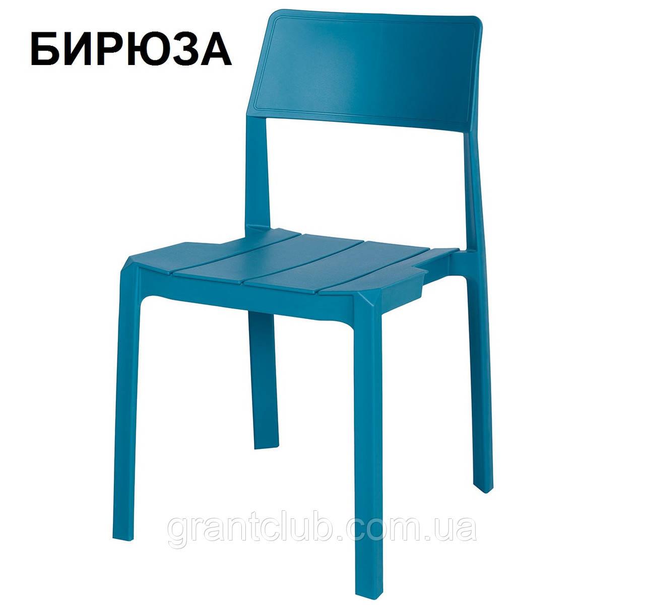 Cтул пластиковый ADONIC (Адоник) полипропилен бирюза Nicolas