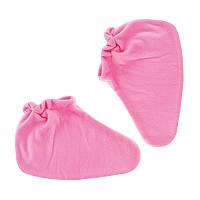 Носочки для парафинотерапии Jerden Proff флисовые, розовые, пара