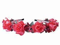 Обруч Персиковая роза малый (Украинские венки, обручи, заколки)
