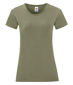 Женская футболка Iconic XL, 59 Оливковый
