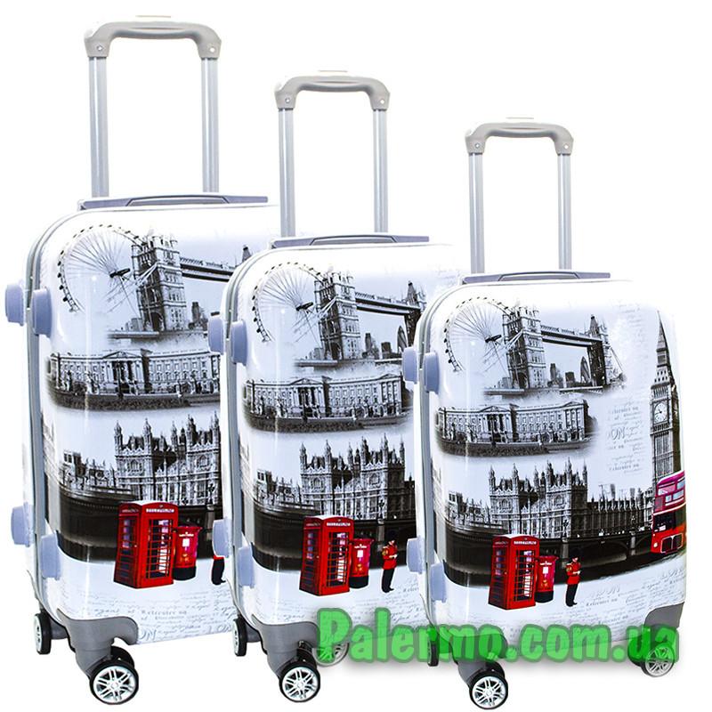 Набор пластиковых чемоданов на колесах (комплект из трех чемоданов) Trafalgar