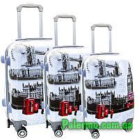 Набор пластиковых чемоданов на колесах (комплект из трех чемоданов) Trafalgar, фото 1