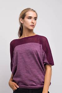Вязаные ажурные блузы, топы и футболки