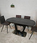 Стол Ottawa (Оттава), керамика коричневый графит (Бесплатная доставка), Nicolas, фото 4