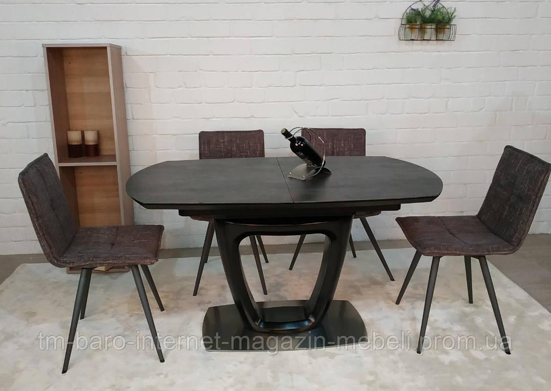 Стол Ottawa (Оттава), керамика коричневый графит (Бесплатная доставка), Nicolas