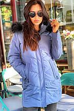 Женское полупальто Freever черное, голубое, пудра