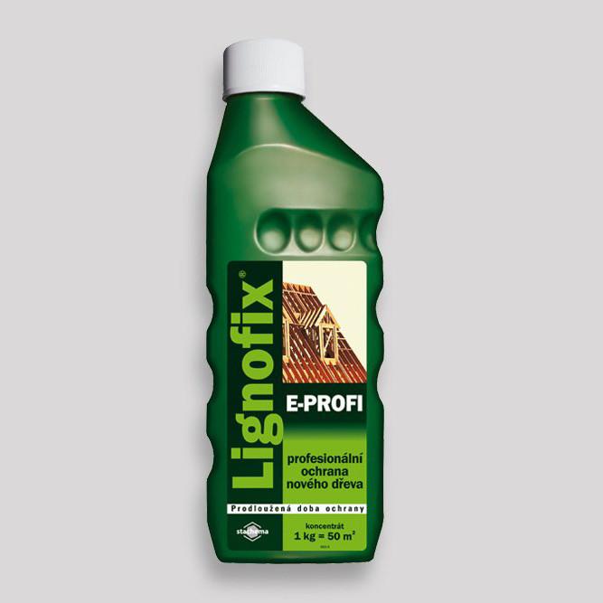 Антисептик-концентрат Lignofix-E-Profi 1л. пропитка для дерева кровельная. Зеленый
