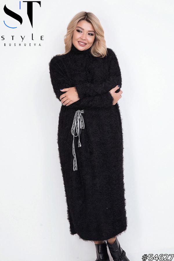 Платье женское черное теплое размеры: 42-62