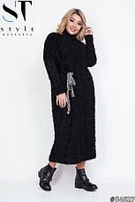 Платье женское черное теплое размеры: 42-62, фото 2