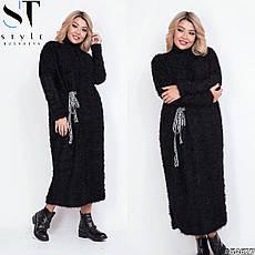 Платье женское черное теплое размеры: 42-62, фото 3
