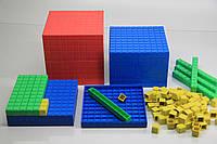 """Математичний куб, Набір """"Одиниці об'єму"""", пластик 121 частини, в картонній коробці"""