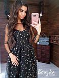"""Женское красивое длинное платье с разрезом на ноге """"Звезды"""" (2 принта), фото 3"""