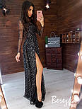 """Женское красивое длинное платье с разрезом на ноге """"Звезды"""" (2 принта), фото 2"""