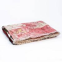 Двусторонний жаккардовый шерстяной плед Индия Shingora FloralBlaze 130×180 см