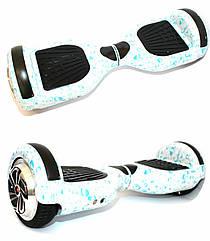 Гироборд Smart Balance 6,5 дюймов Гироскутер Цвет - Белый с Каплями полная комплектация