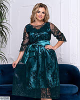 Женское платье с кружевом больших размеров 48-58