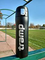 Термокружка Tramp 0,45 л чорний матовий TRC-107-black. Кружка термос 450 мл.