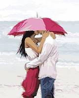 """Картина раскраска по номерам """"Поцелуй на берегу океана"""" на холсте 40х50 см. Babylon VP 771"""
