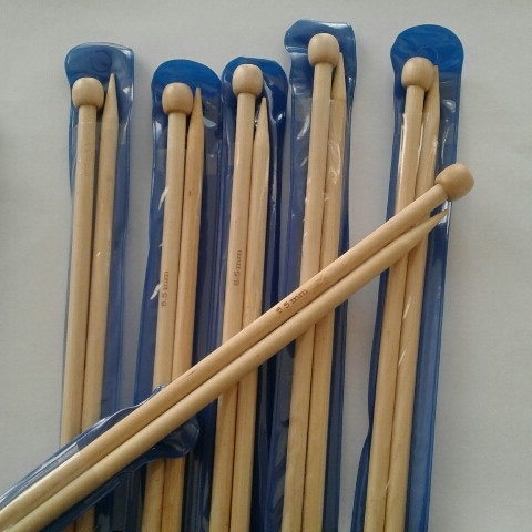 Спицы длинные бамбуковые №6,5