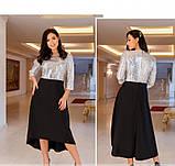 Яркое, блистательное и очень стильное платье №743Н-серебро, фото 2