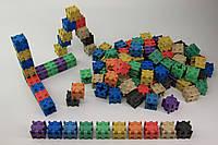 Кубики з різними способами з'єднання, 100 шт, 2x2x2 см, 10 кольори, дерево