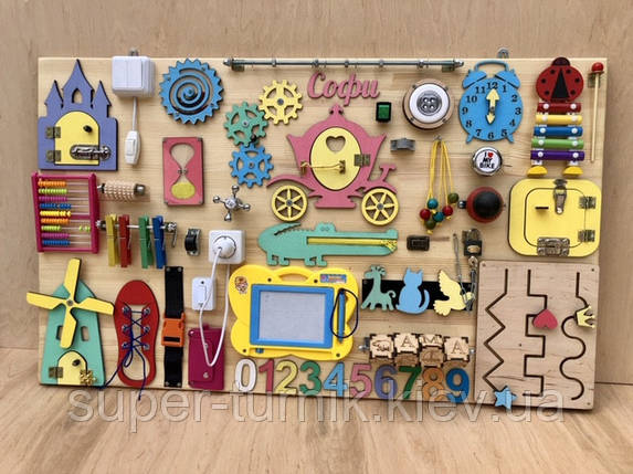 Развивающая игрушка, пазл, БИЗИБОРД 100Х60, фото 2