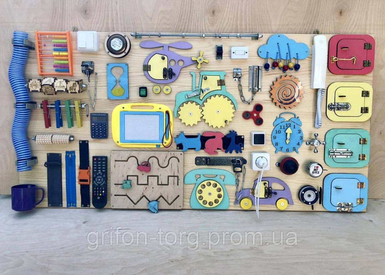 Развивающая игрушка, пазл, БИЗИБОРД 120Х60
