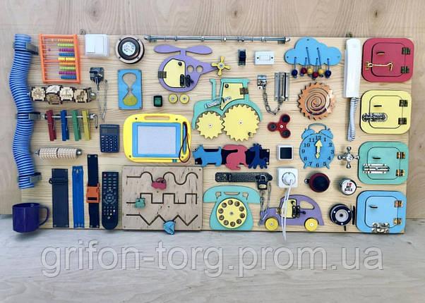 Развивающая игрушка, пазл, БИЗИБОРД 120Х60, фото 2