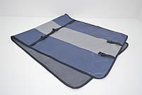 Авточехол на переднее сиденье для собак Гармония №1 двухсторонний синий