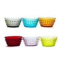 Набор разноцветных пиал Италия Livellara Tiffany 12 см, 6 шт