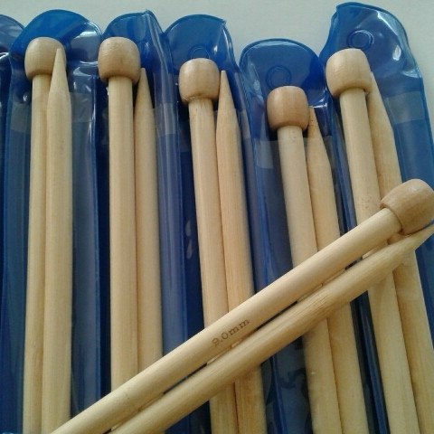 Спицы длинные бамбуковые №9,0