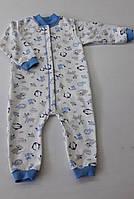 Пижама с начесом для мальчика 74-80 см