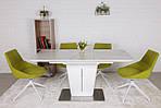 Стол обеденный ALABAMA (120+40)*80*77) керамика белый, Nicolas, фото 2