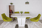 Стол обеденный ALABAMA (120+40)*80*77) керамика белый, Nicolas, фото 3