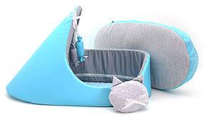 Лежак тапок для собак и котов Комфорт лето бирюзовый, фото 3
