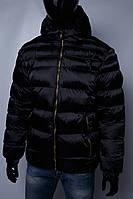 Пуховик мужской GS 1056_1 био-пух черный