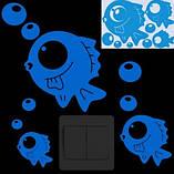 "Люминесцентная наклейка ""Рыбки"" - 20*14см (набирают свет и светятся в темноте синим), фото 2"