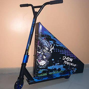 Алюмінієвий Трюковий самокат Show Yourself Алюмінієві колеса Синій