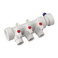 Коллектор полипропиленовой системы водоснабжения 3-way с кранами KOER