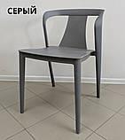 Стілець пластиковий IVA сірий / поліпропілен (безкоштовна доставка), фото 2